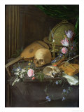 Vanitas Still Life with a Nautilus and a Lute Giclee Print by Matthys Naiveu