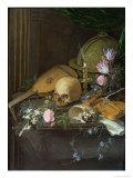 Vanitas Still Life with a Nautilus and a Lute Giclee Print by Matthys Naiveu
