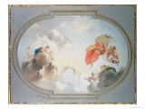 Ceiling Design Depicting the Apotheosis of Flora Giclee Print by Jacob De Wit