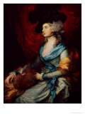 Mrs Sarah Siddons, the Actress Giclee Print by Thomas Gainsborough