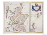 Map of Scotland, c.1700 Giclee Print by R. Gordon