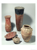 Selection of Vases, Naqada I/Ii Period, 4000-3100 BC Giclee Print by Predynastic Period Egyptian