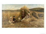 Young Harvesters Giclee Print by Lionel Percy Smythe