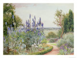 Garden Near the Thames Giclee Print by Alfred Parsons