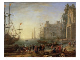 Harbour with Villa Medici, 1637 Giclee Print by Claude Lorrain