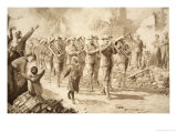 The Music of Triumph: Victorious Australians Entering Bapaume, 17th March 1917 Giclee Print by Charles Mills Sheldon