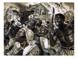 Revolt of the Slave in Southern Usa Giclee Print by Clive Uptton