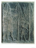 Relief Depicting the Hunting of Birds in the Woods, from the Palace of Sargon II at Khorsabad, Iraq Reproduction procédé giclée par Assyrian