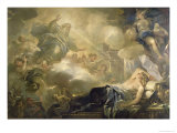 The Dream of Solomon, c.1693 Lámina giclée por Luca Giordano