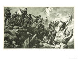 The Capture of the German Trenches at Neuve Chapelle Giclee Print by Charles Mills Sheldon