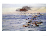 The Aftermath of the Lusitania Giclee Print by William Lionel Wyllie