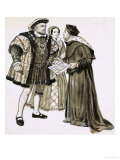 Cardinal Wolsey Could Not Change Henry's Mind About Marrying Anne Boleyn Giclee Print by Clive Uptton