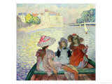 Young Girls in a Boat, c.1900 Giclee Print by Henri Lebasque