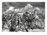 Victory at Gaugamela For Alexander the Great Giclee Print by Graham Coton