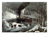 American Railroad Scene, 1871 Giclee Print by Currier & Ives