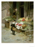 Little Boy at the Market Giclee Print by Victor Gabriel Gilbert