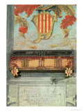Mural Painting from the Count of Barcelona's Tomb Giclee Print by Ramon Berenguer