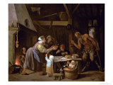 The Satyrs and the Family Giclee Print by Jan Havicksz. Steen