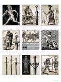 Swords - Fighting Blades of Europe Giclee Print by Dan Escott