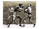 Jimmy Wilde Boxing Pancho Villa in New York Giclee Print by Pat Nicolle