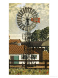 Wind Pump Giclee Print by Ronald Lampitt