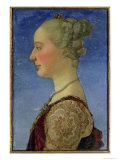 Portræt af en kvinde Giclée-tryk af Antonio Pollaiolo