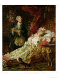 Louis XV and Madame Dubarry Giclee Print by Gyula Benczur
