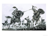 Hans Schiltberger Was Saved on the Turkish Battle Fields by the Warrior Soleiman Giclee Print by Graham Coton