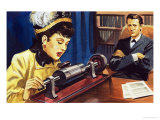 The Story of Communication: from Phonograph to Tape Recorder Giclee Print by Selby Donnison