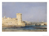 Marine Fortress Giclee Print by Louis Eugene Gabriel Isabey