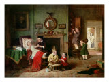 Playing at Doctors Giclee Print by Frederick Daniel Hardy