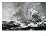 Clipper Captains Spared No One to Make It to Australia Before the Gold Ran Out Giclee Print by Graham Coton