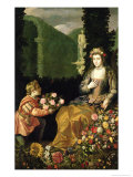 Offering to Flora, 1627 Giclee Print by Juan Van Der Hamen
