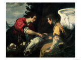Tobias and the Archangel Raphael Giclée-Druck von Jacopo Vignali