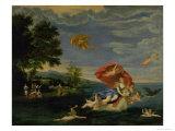 The Rape of Europa Giclée-tryk af Francesco Albani