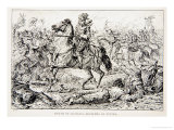 The Death of Gustavus Adolphus at Lutzen Giclee Print by Johann Nepomuk Schonberg