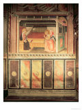 Annunciation, in the Cappella Del Sacro Cingolo Giclee Print by Agnolo Gaddi