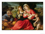 The Holy Family, c.1508-12 Giclee Print by Jacopo Palma