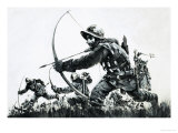 Bowmen at the Battle of Bannockburn Giclee Print by Graham Coton