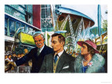 George VI Opens the Festival of Britain Giclee Print by Clive Uptton