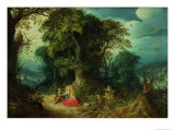 The Rest on the Flight Into Egypt Giclee Print by Abraham Govaerts
