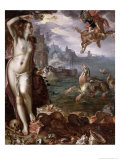 Perseus Rescuing Andromeda, 1611 Giclee Print by Joachim Wtewael Or Utewael