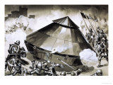 Unidentified Armoured Weapon of War - an Early Form of Tank Giclee Print by Angus Mcbride