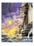 The Ironclads of the Battle of Trafalgar Giclee Print by Angus Mcbride