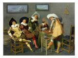 Cavaliers in a Tavern Giclee Print by Dirck Hals