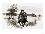 Friar John Upon a Fiery Mongolian Horse Giclee Print by Graham Coton