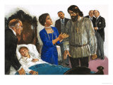 Princess Irina Turns to Rasputin to Save Alexis Giclee Print by Clive Uptton