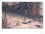 Hunting Moose Giclee Print by Cornelius Krieghoff