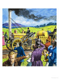 Stephenson's Rocket Giclee Print by Harry Green