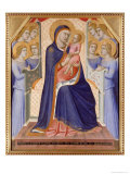 Madonna in Glory, c.1315 Giclée-tryk af Pietro Lorenzetti